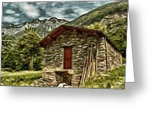 Alpine Ruins Greeting Card by Jeff Kolker