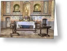Altar At Mission La Purisima State Greeting Card by Douglas Orton