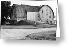 Aluminum Gothic Arch Barn Greeting Card by Jan Faul