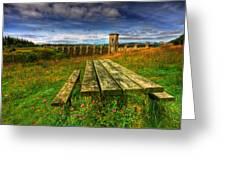 Alwen Reservoir Greeting Card by Adrian Evans