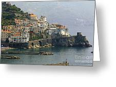 Amalfi Daytime Scenic Greeting Card by George Oze