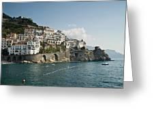 Amalfi Point Greeting Card by Jim Chamberlain