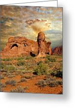 Amber Arches Greeting Card by Marty Koch