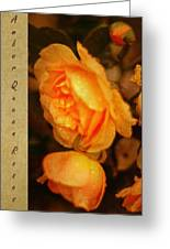 Amber Queen Rose Greeting Card by Jenny Rainbow