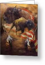American Buffalo Greeting Card by Carol Cavalaris