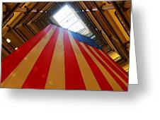 American Flag In Marshall Field's Greeting Card by Paul Ge