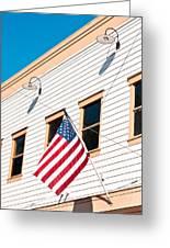 American Flag Greeting Card by Tom Gowanlock