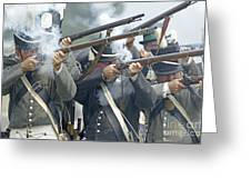 American Infantry Firing Greeting Card by JT Lewis