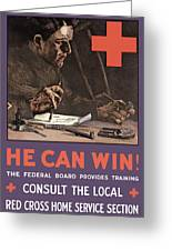 American Red Cross Greeting Card by War Is Hell Store