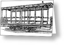 American: Streetcar, 1880s Greeting Card by Granger