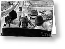 Amish Family Outing II Greeting Card by Julie Dant
