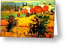 Amish Farms Greeting Card by Brian Simons