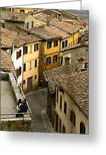 Amore In Cortona Greeting Card by Al Hurley