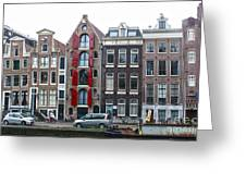 Amsterdam Canal Houses Greeting Card by Gregory Dyer