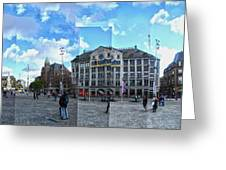 Amsterdam - Dam Square - 01 Greeting Card by Gregory Dyer
