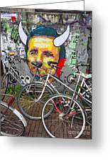 Amsterdam Devil Graffiti Greeting Card by Gregory Dyer