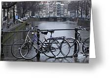 Amsterdam The Netherlands Greeting Card by Bob Christopher