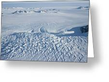 An Aerial View Of Crevasses In A Polar Greeting Card by Gordon Wiltsie