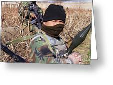 An Afghan Commando On Patrol Greeting Card by Stocktrek Images