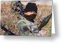 An Afghan Commando On Patrol Greeting Card by Stocktrek Images