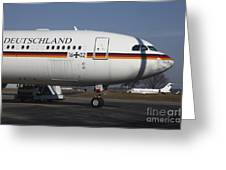 An Airbus 340 Acting As Air Force One Greeting Card by Timm Ziegenthaler
