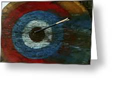 An Arrow Hit The Bullseye Greeting Card by Sam Abell