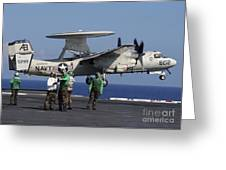 An  E-2c Hawkeye Launches From Aboard Greeting Card by Stocktrek Images