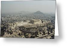 An Elevated View Of The Parthenon Greeting Card by James P. Blair