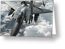 An F-15 E Strike Eagle Receives Fuel Greeting Card by Stocktrek Images