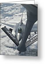 An F-16 From Colorado Air National Greeting Card by Giovanni Colla