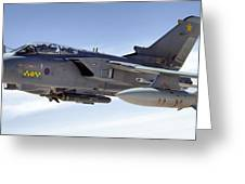 An Raf Tornado Gr-4 Takes On Fuel Greeting Card by Stocktrek Images