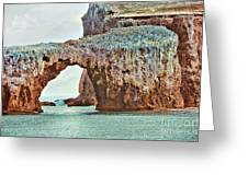 Anacapa Island 's Arch Rock Greeting Card by Cheryl Young