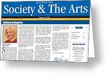Anahi Decanio Featured In Boca Raton News Greeting Card by Anahi DeCanio