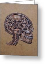 Anatomy Of A Schizophrenic Greeting Card by Joe Dragt