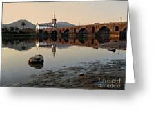 Ancient Bridge Greeting Card by Carlos Caetano