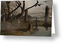 Ancient Graveyard Greeting Card by Tea Aira