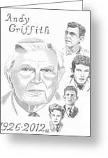 Andy Griffith Greeting Card by Gail Schmiedlin