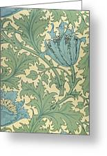 Anemone Design Greeting Card by William Morris