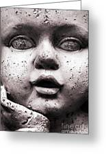 Angel Face Greeting Card by Dan Holm