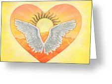 Angel Greeting Card by Lisa Kretchman