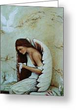 Angel Greeting Card by Steven Wood