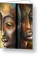 'angels Of Deception' Greeting Card by Michael Lang