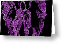 Angels Of Light Purple Greeting Card by Alma Yamazaki