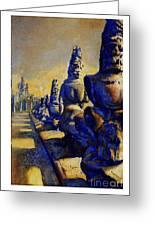 Angkor Wat Ruins Greeting Card by Ryan Fox