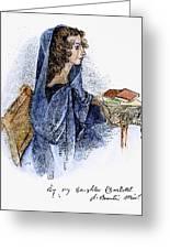 Ann Bronte (1820-1849) Greeting Card by Granger