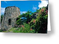Annaberg Ruins Greeting Card by Kathy Yates