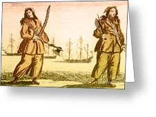 Anne Bonny And Mary Read, 18th Century Greeting Card by Photo Researchers