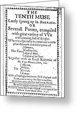 Anne Bradstreet Title-page Greeting Card by Granger