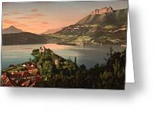 Annecy France - Chateau De Duingt Greeting Card by International  Images
