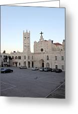 Annunciation Latin Church In Beit Jala Greeting Card by Munir Alawi